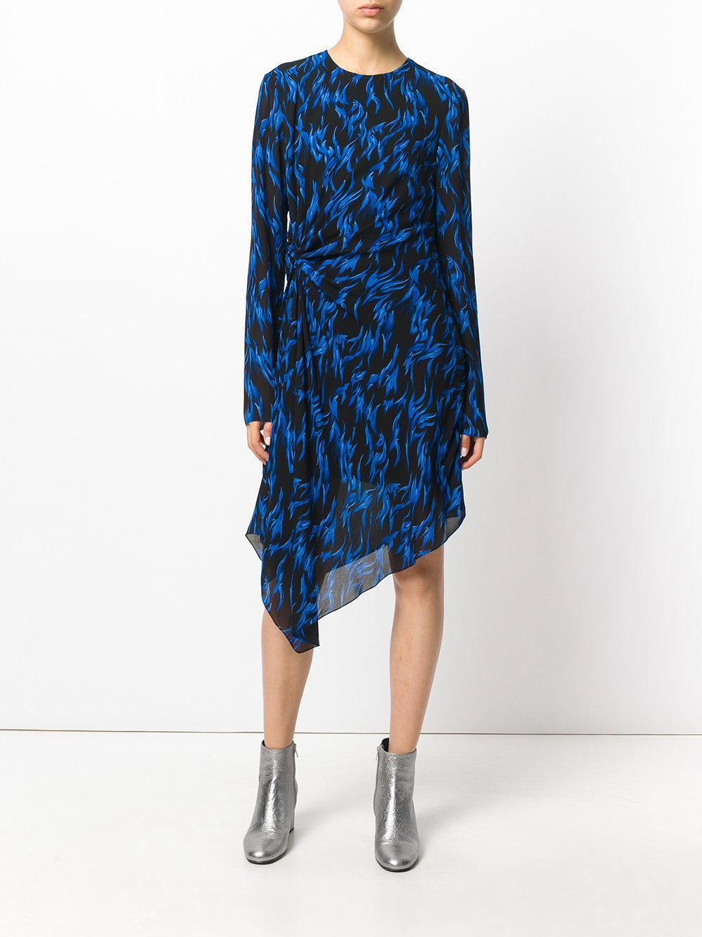 printed asymmetric dress - Black Saint Laurent gpCnC59a