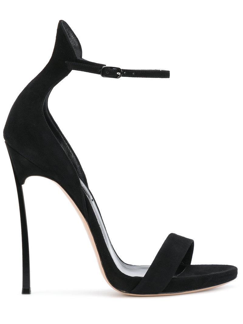 Blade ruffle-trimmed sandals - Black Casadei pm50QP