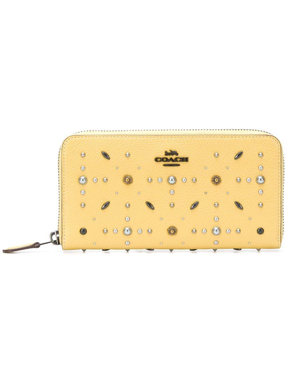 9599de2f22 COACH Prairie Rivet Accordion Zip Wallet - Lyst