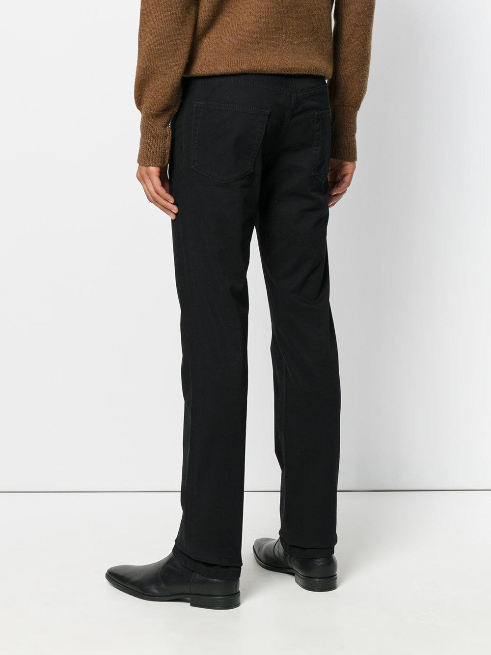 Brioni Straight-leg Denim Jeans in Black for Men