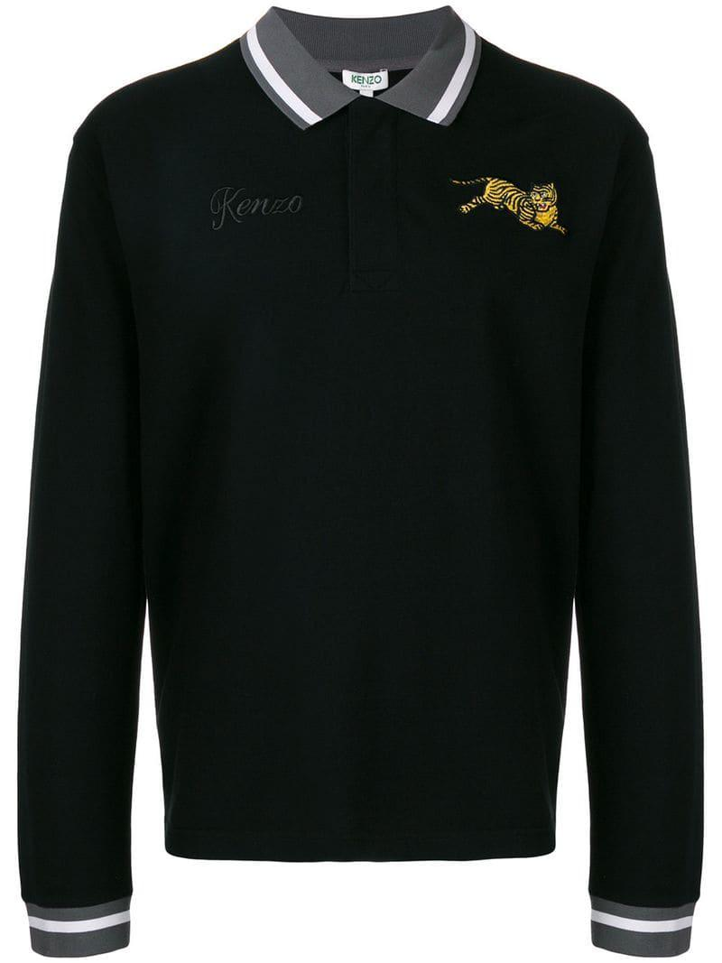 5f22ff07 Kenzo Tiger Polo Shirt in Black for Men - Lyst