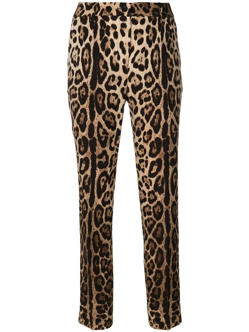 leopard print tapered trousers - Brown Dolce & Gabbana nuyQ5Qc