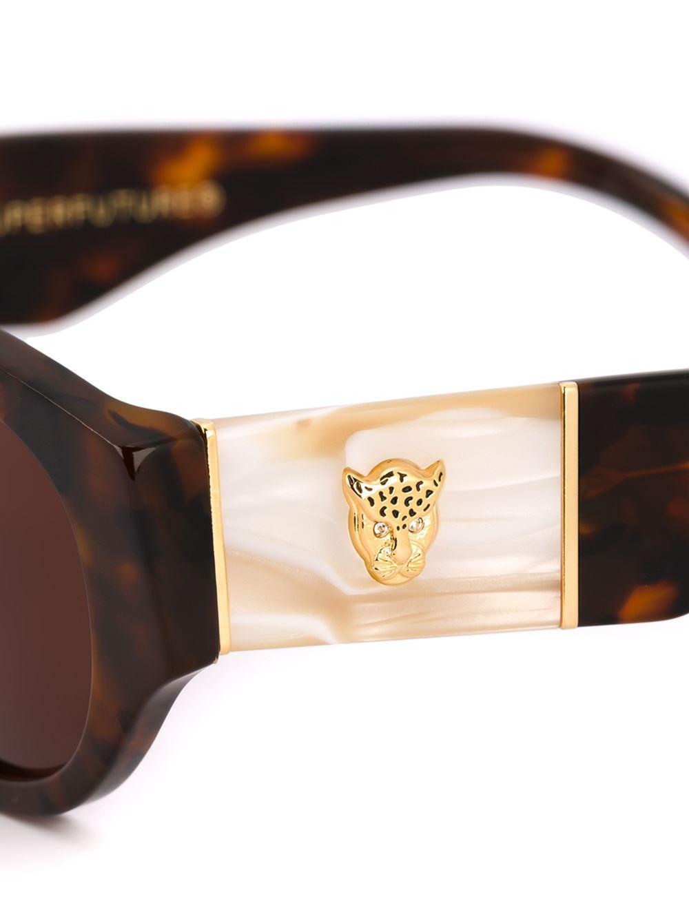 Retrosuperfuture 'drew Mama Amante' Sunglasses in Brown