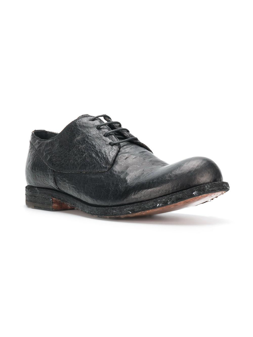 Officine Creative Leather Bubble Shoes in Black for Men