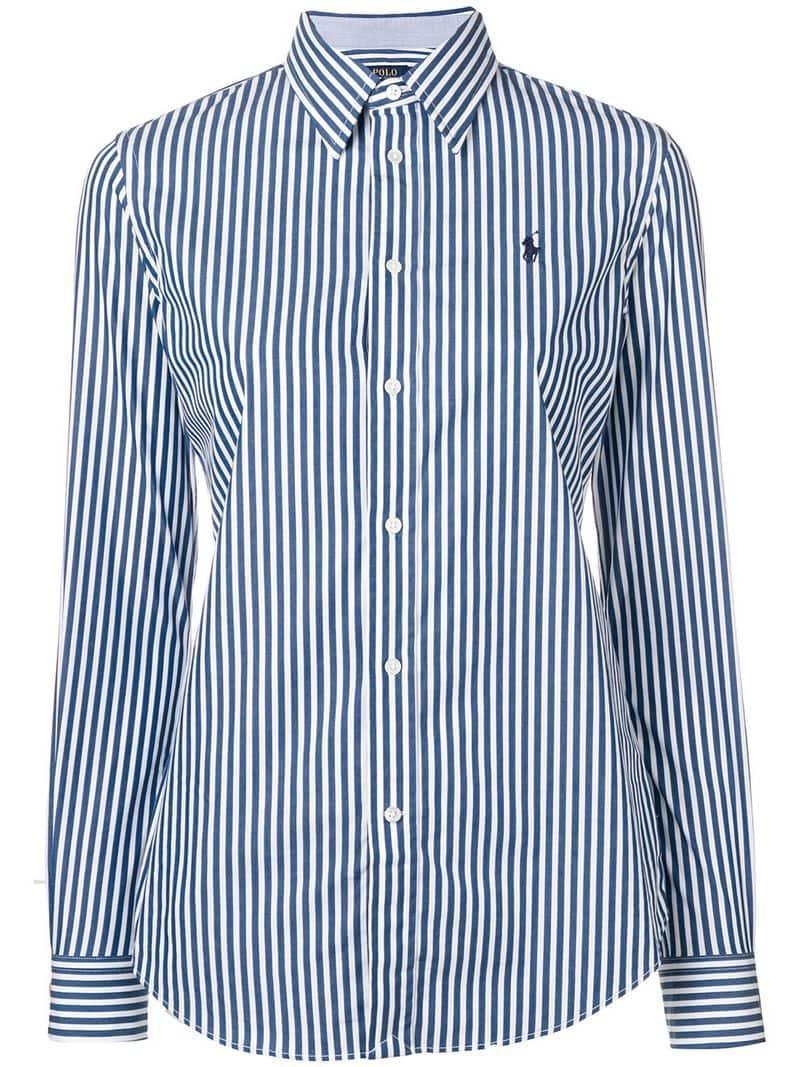 cf2e7d1cf091 Polo Ralph Lauren Striped Shirt in Blue - Lyst
