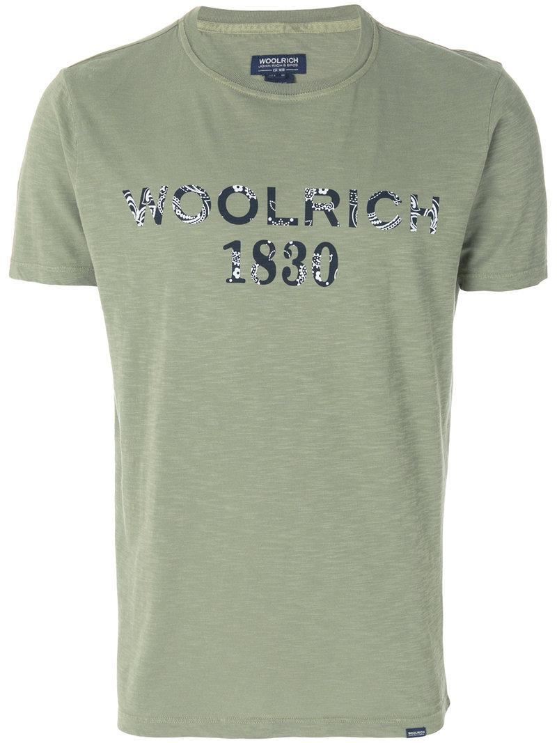 logo print T-shirt - White Woolrich Amazing Price Cheap Online HbnT7DqeSq
