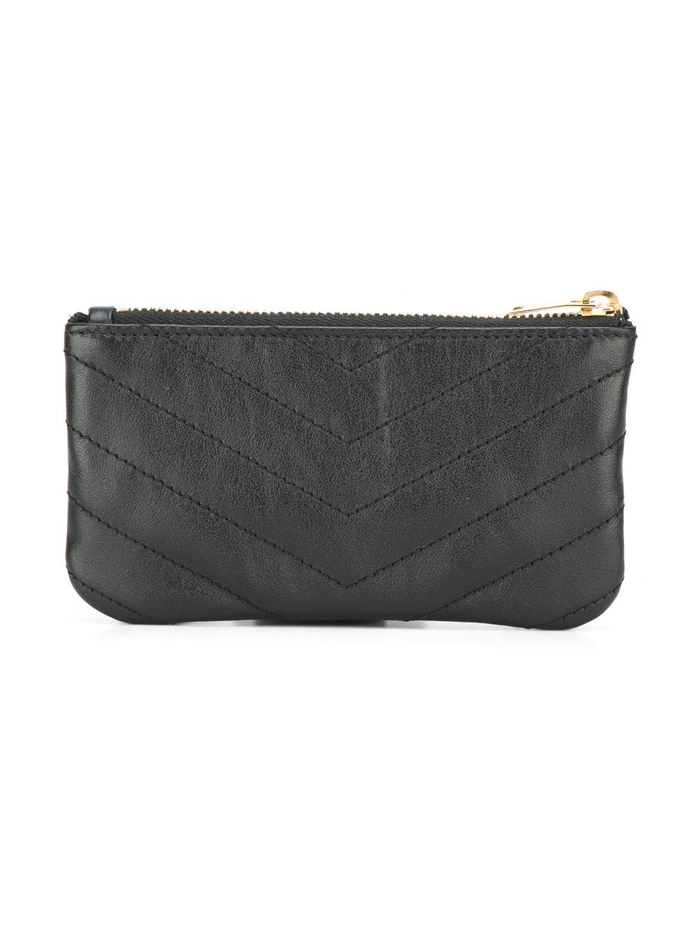 b368e9b8040 Lyst - Saint Laurent Monogrammed Coin Purse in Black