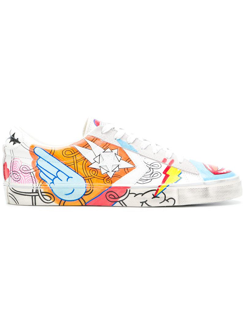 Converse Pro Leather Vulc Hand-painted Sneakers for Men - Lyst