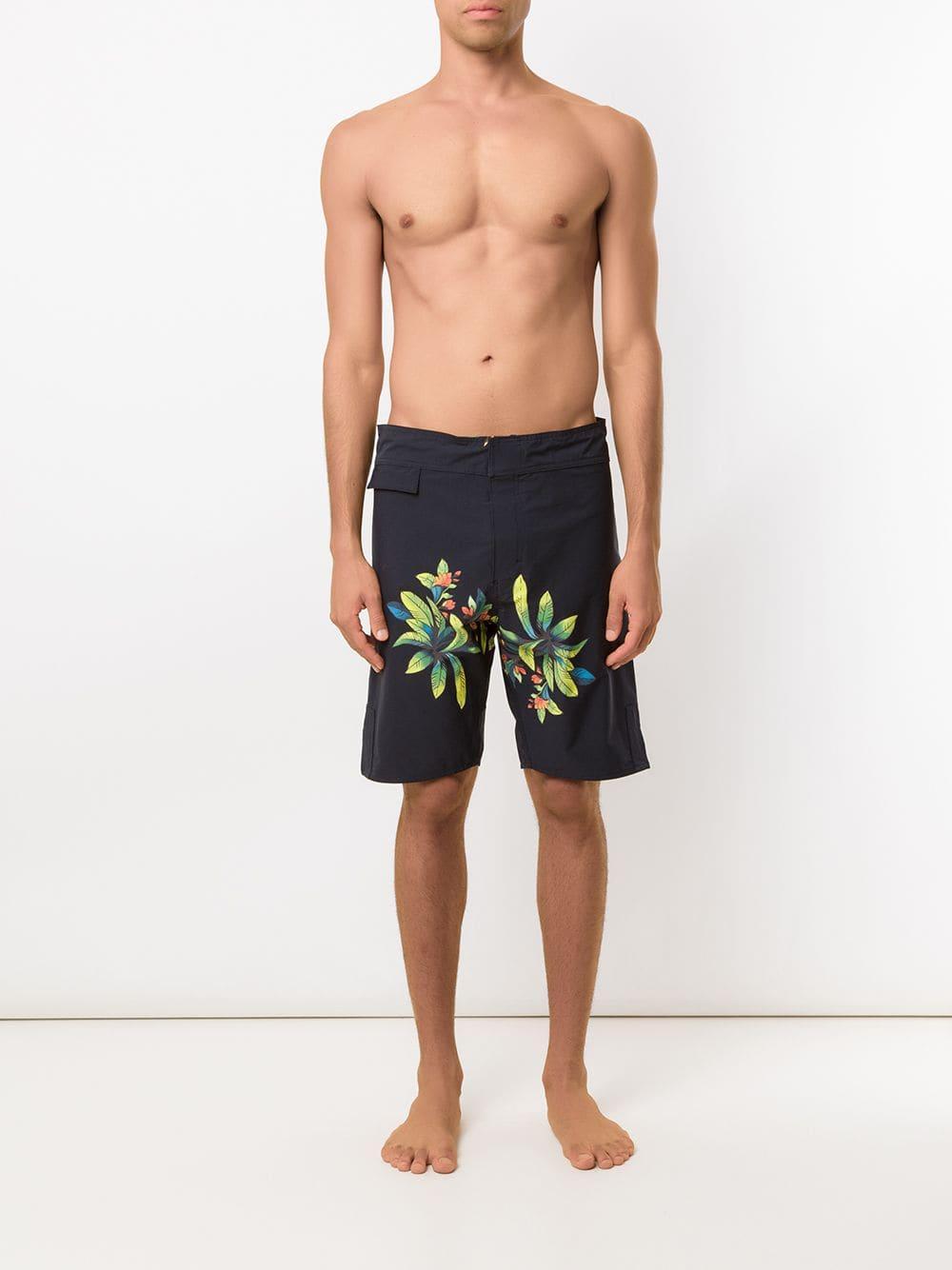 Amir Slama Synthetisch Shorts Met Print in het Zwart voor heren
