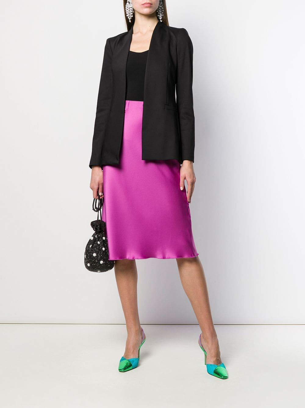 Blazer à col plongeant Coton Alice + Olivia en coloris Noir