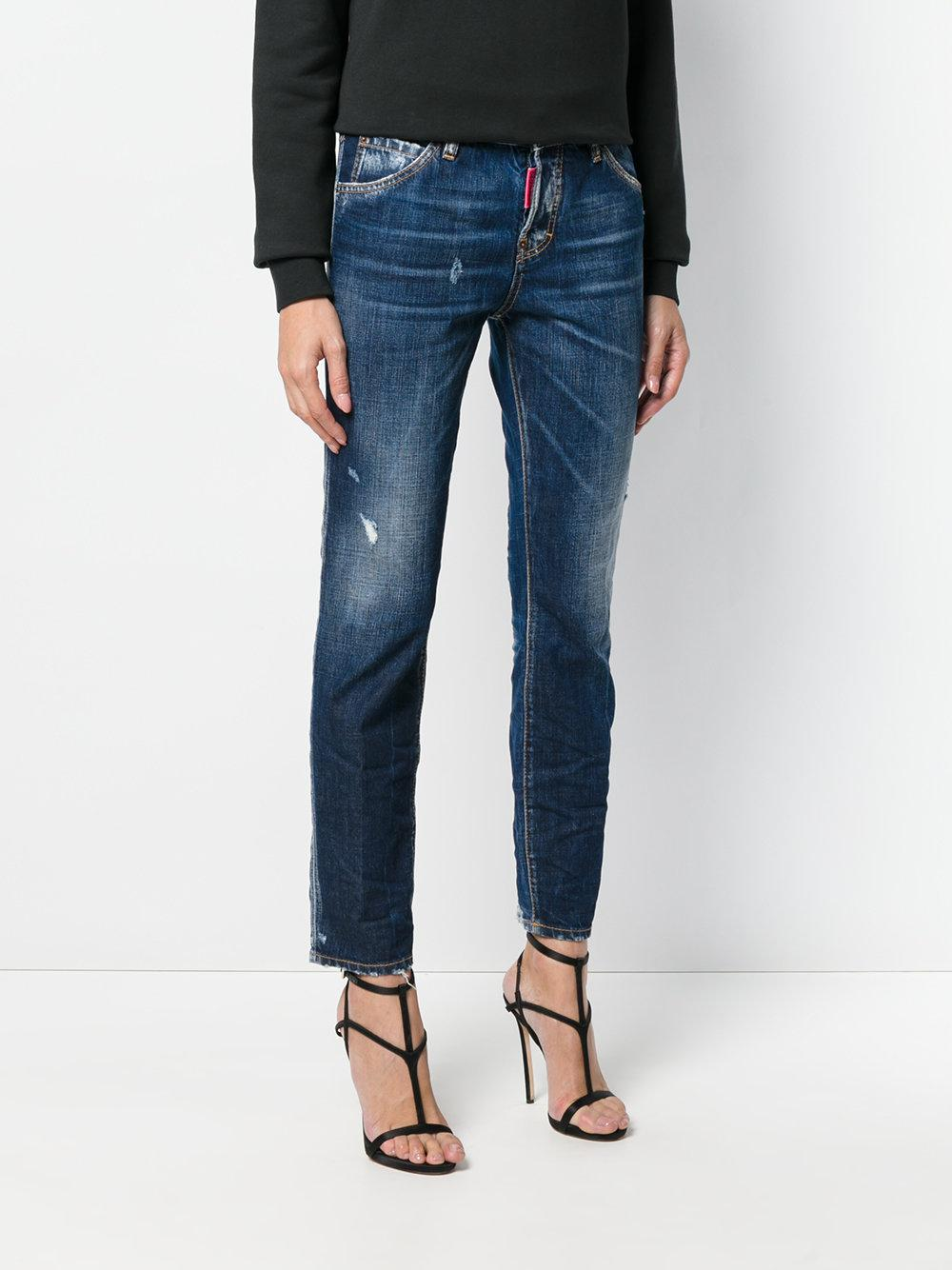 DSquared² Be Nice Straight-leg Denim Jeans in Blue