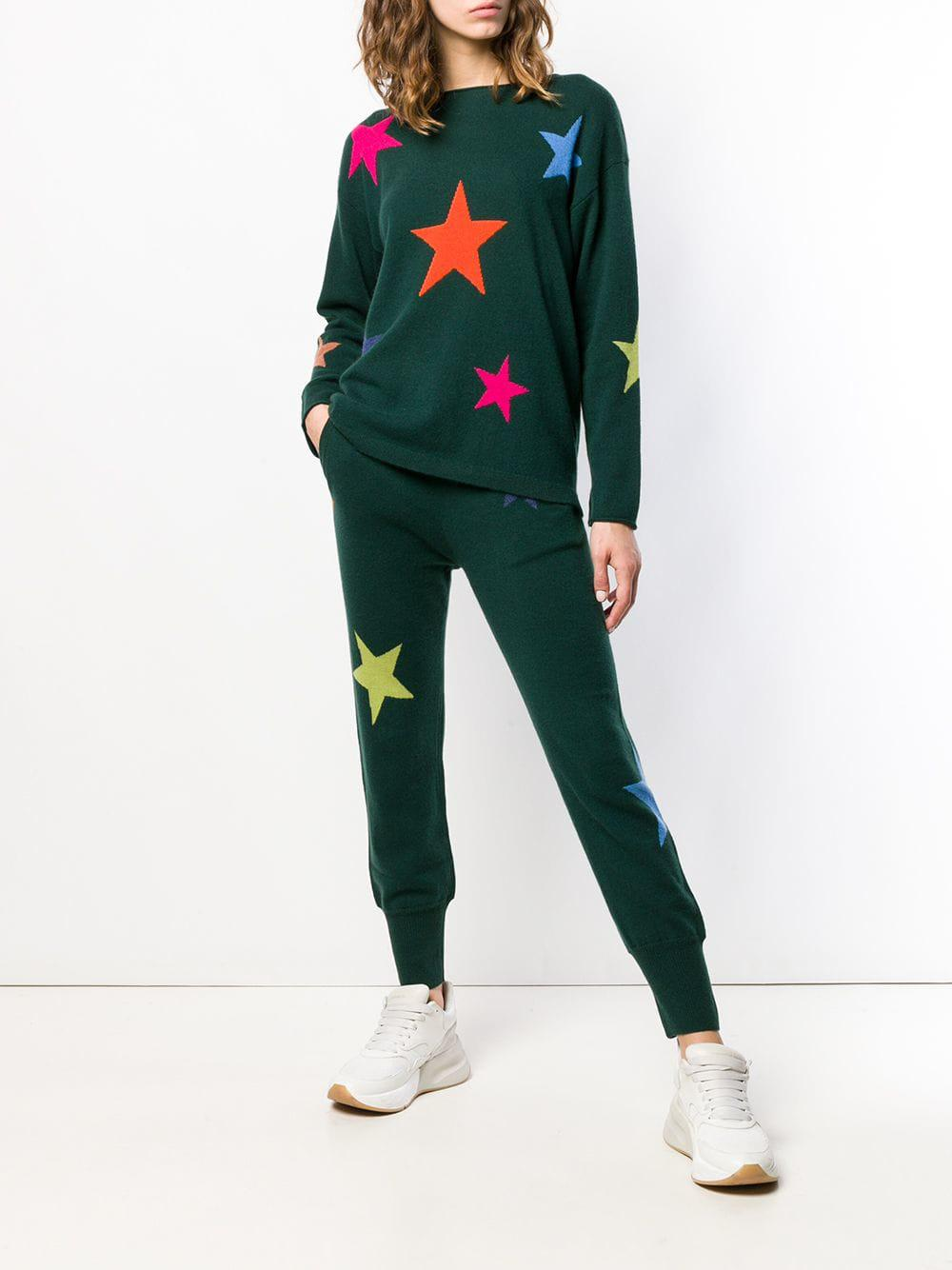 841e385bc16 Allude Knitted Star Track Pants in Green - Lyst