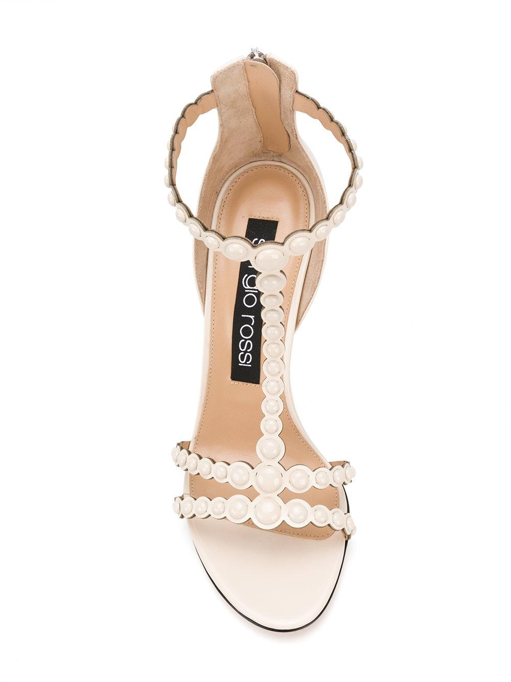 pear embellished heels - Nude & Neutrals Sergio Rossi iRGXNb2