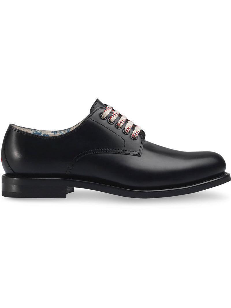 787eaca805 Gucci - Black Zapatos con cordones for Men - Lyst. Ver en pantalla completa