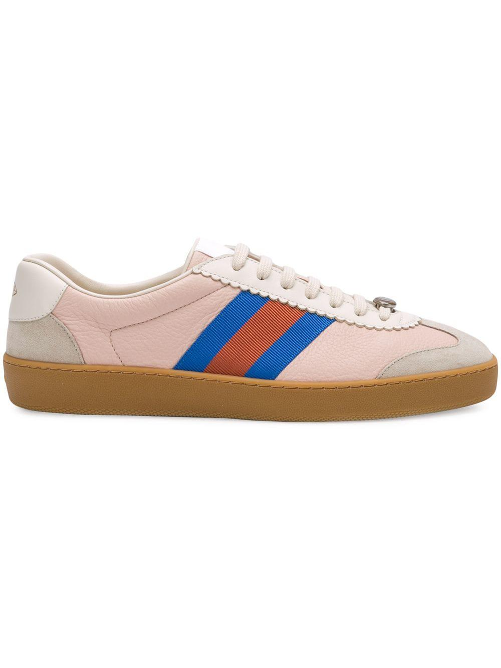 Gucci Leather And Suede Sneakers in