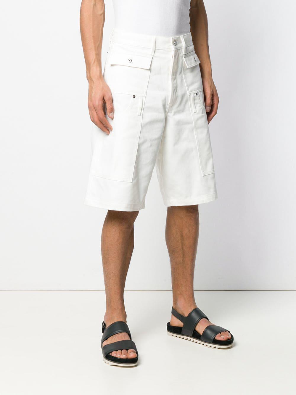 Jacquemus Katoen Bermuda Shorts Met Opgestikte Zakken in het Wit voor heren