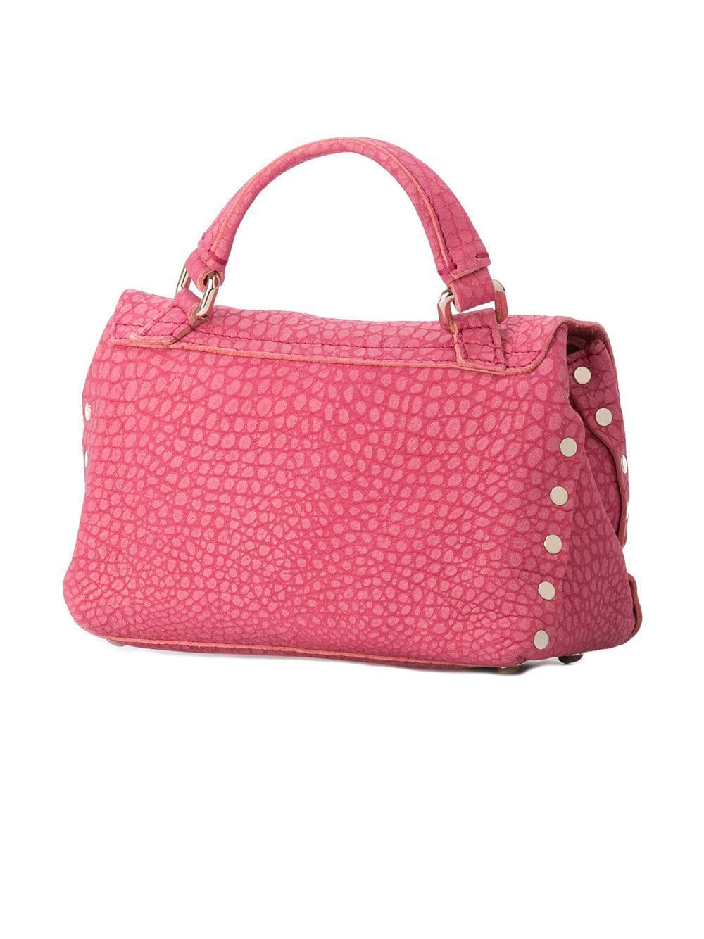 Zanellato Leather Small Postina Tote in Pink