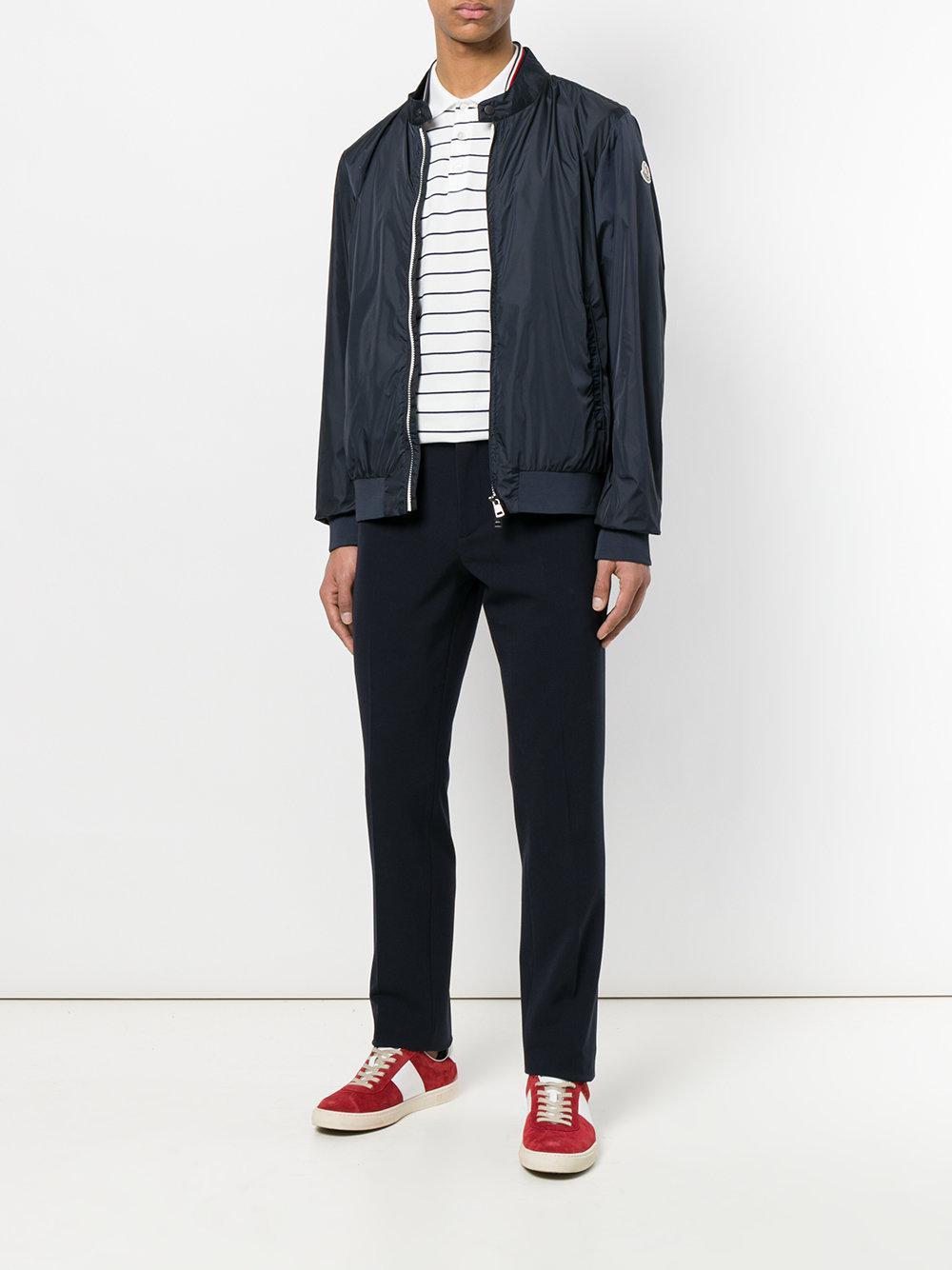Moncler Lightweight Zip Jacket in Blue for Men