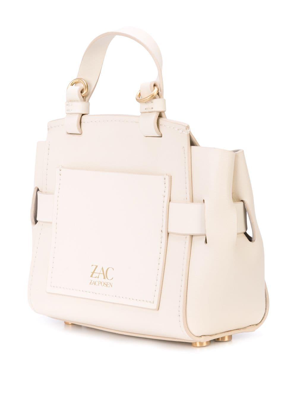 Mini sac à bandoulière Brigette Cuir Zac Zac Posen en coloris Blanc