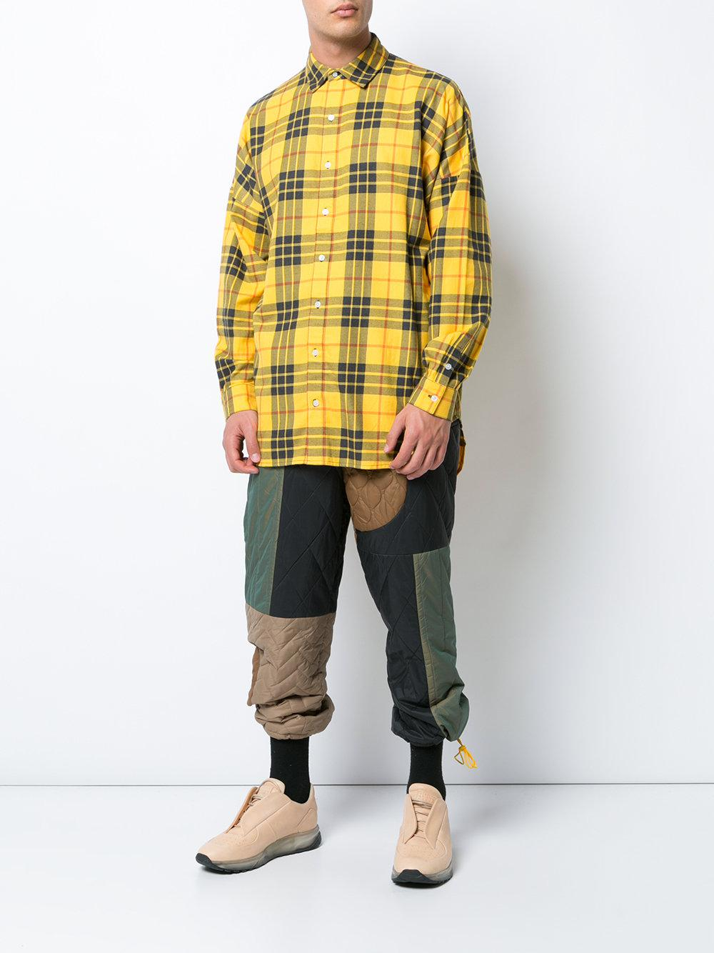 Mostly Heard Rarely Seen Synthetic Colour-block Quilted Trousers in Green for Men