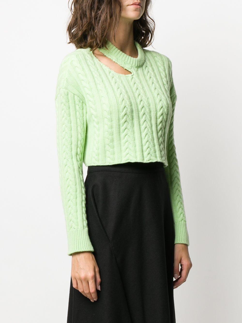 Jersey con detalle de aberturas Mrz de Lana de color Verde