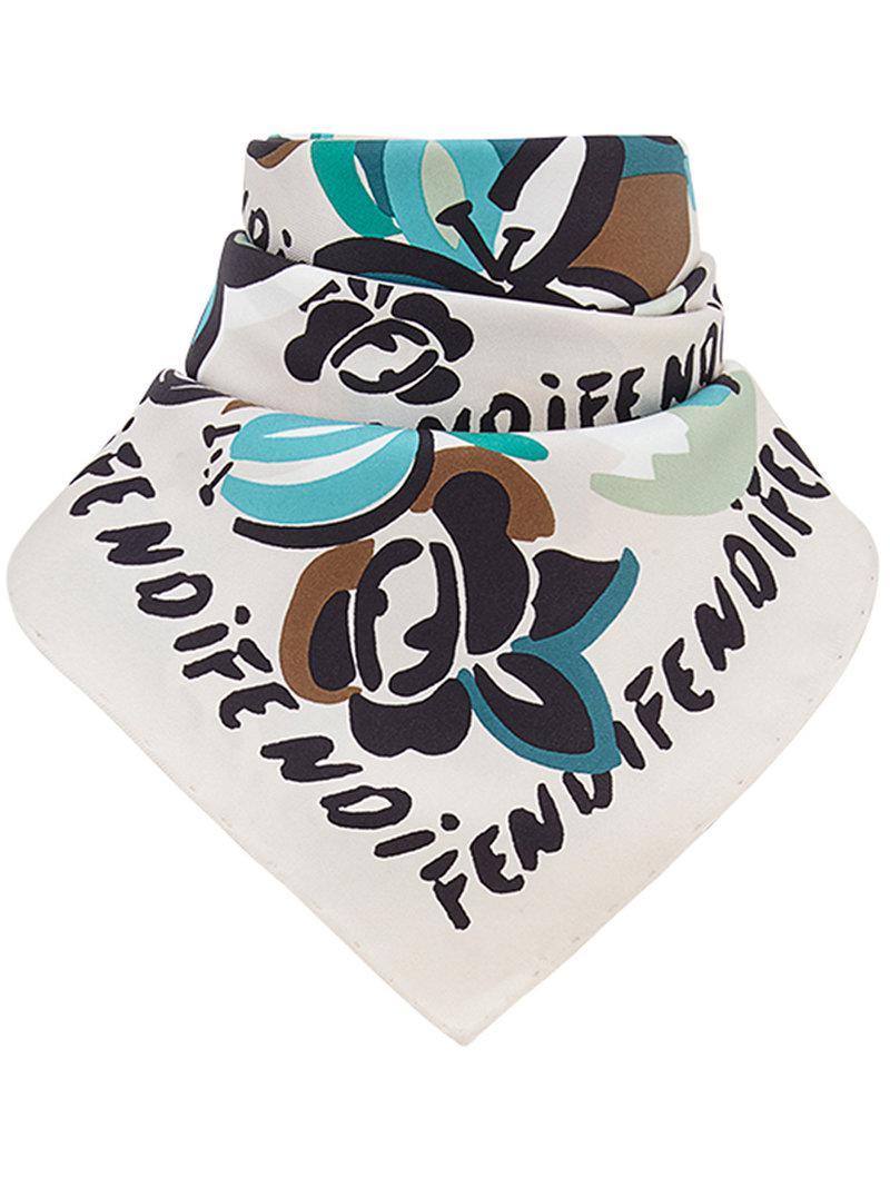 b6b7f7e2283 Fendi. Women s Floral Foulard Square Scarf