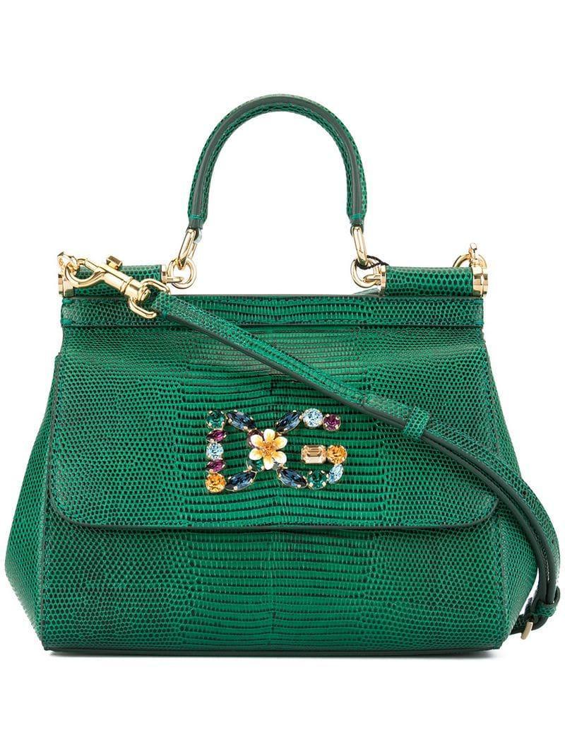 49034f980c Lyst - Dolce   Gabbana Mini Sicily Shoulder Bag in Green
