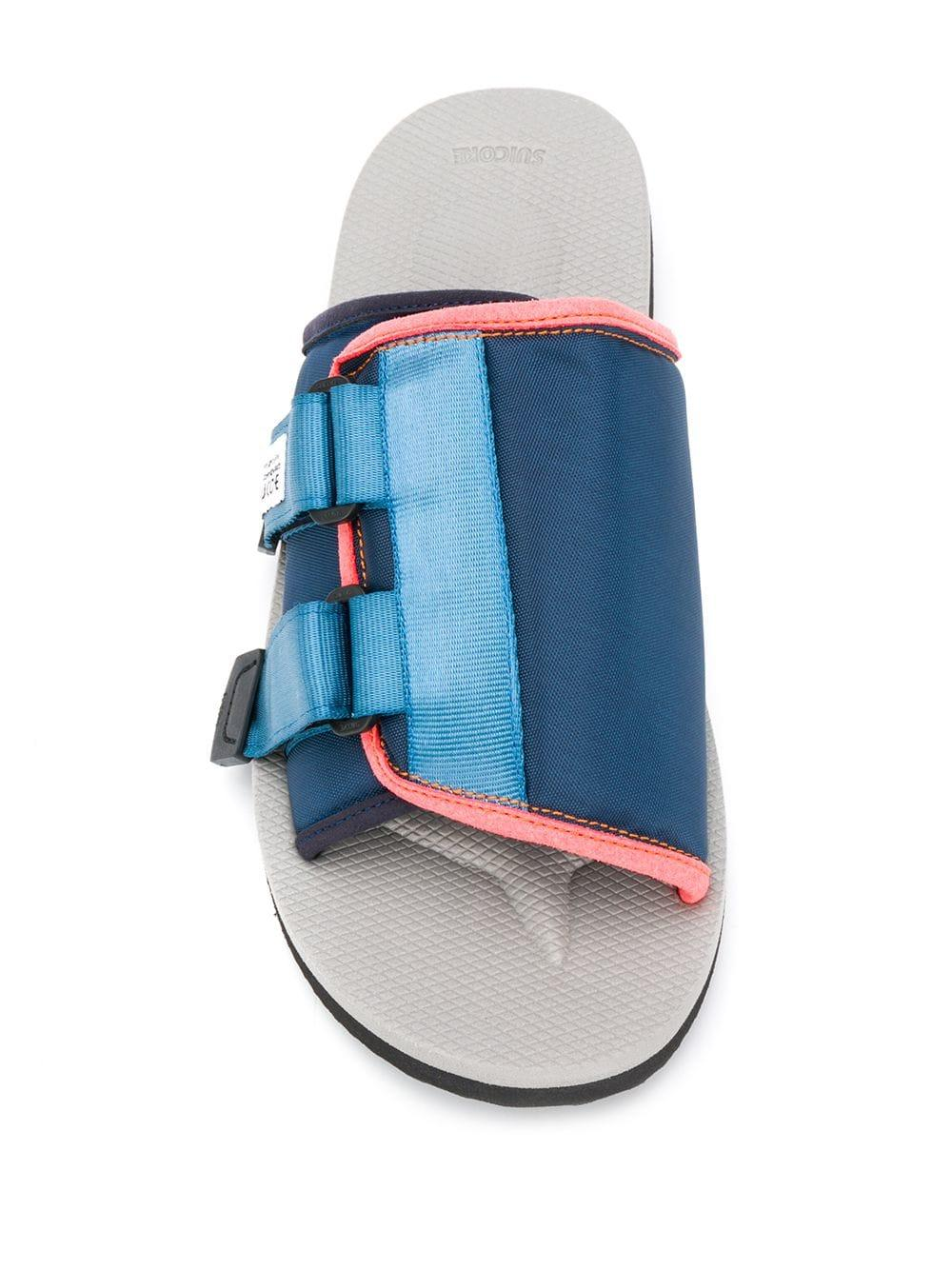 7499a86b7f4 Suicoke - Blue Touch-strap Slides for Men - Lyst. View fullscreen