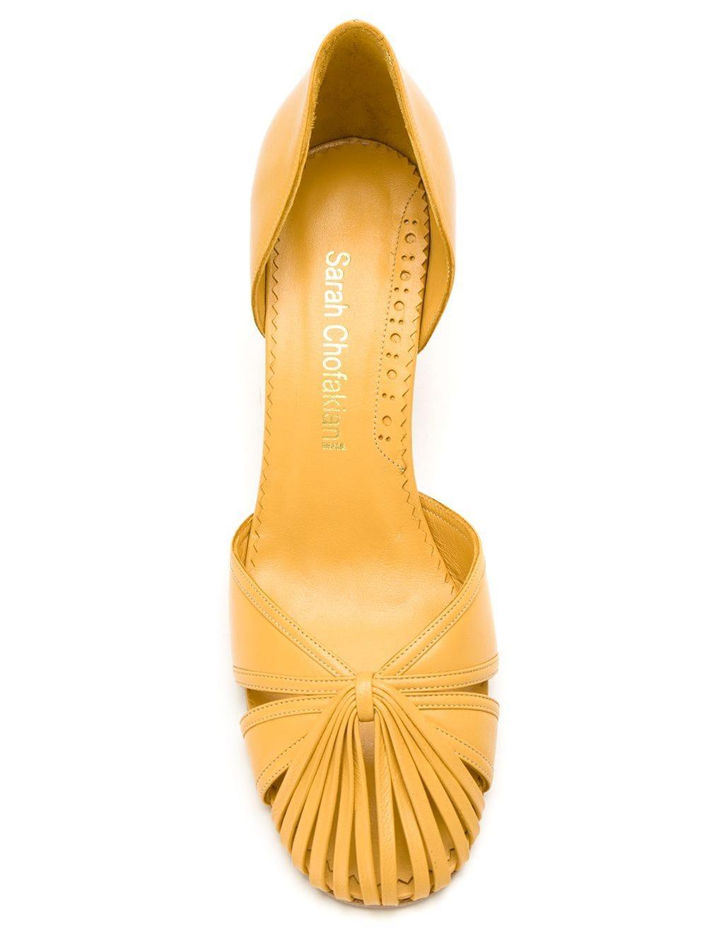 Zapatos de tacón Sarah Sarah Chofakian de Cuero de color Blanco
