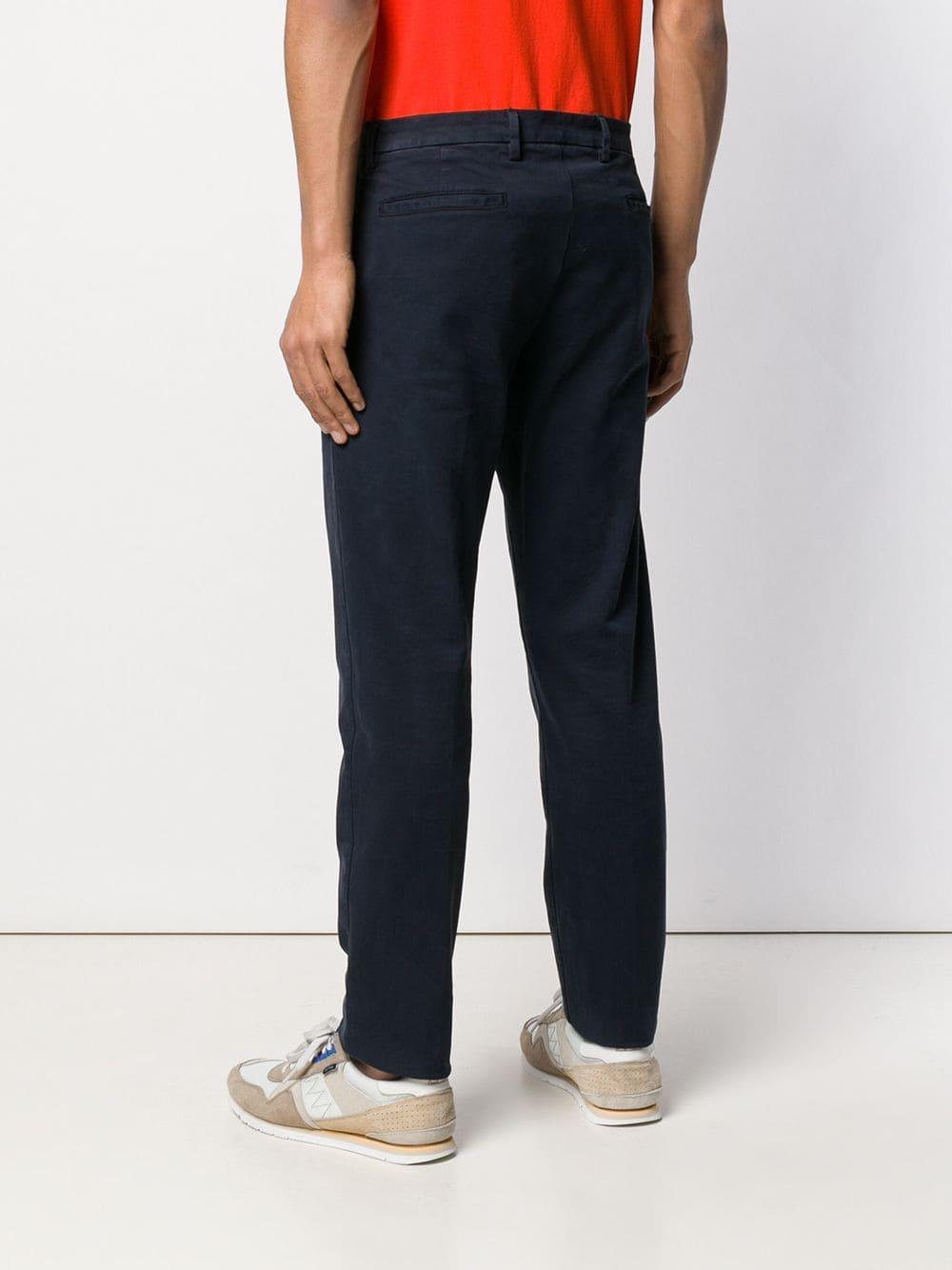 Mp Massimo Piombo Katoen Slim-fit Chino in het Blauw voor heren