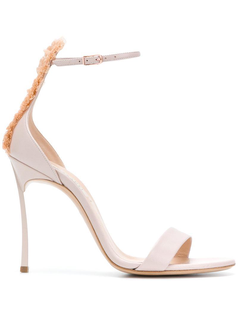 ruffle trim sandals - Pink & Purple Casadei Uu0hSheK