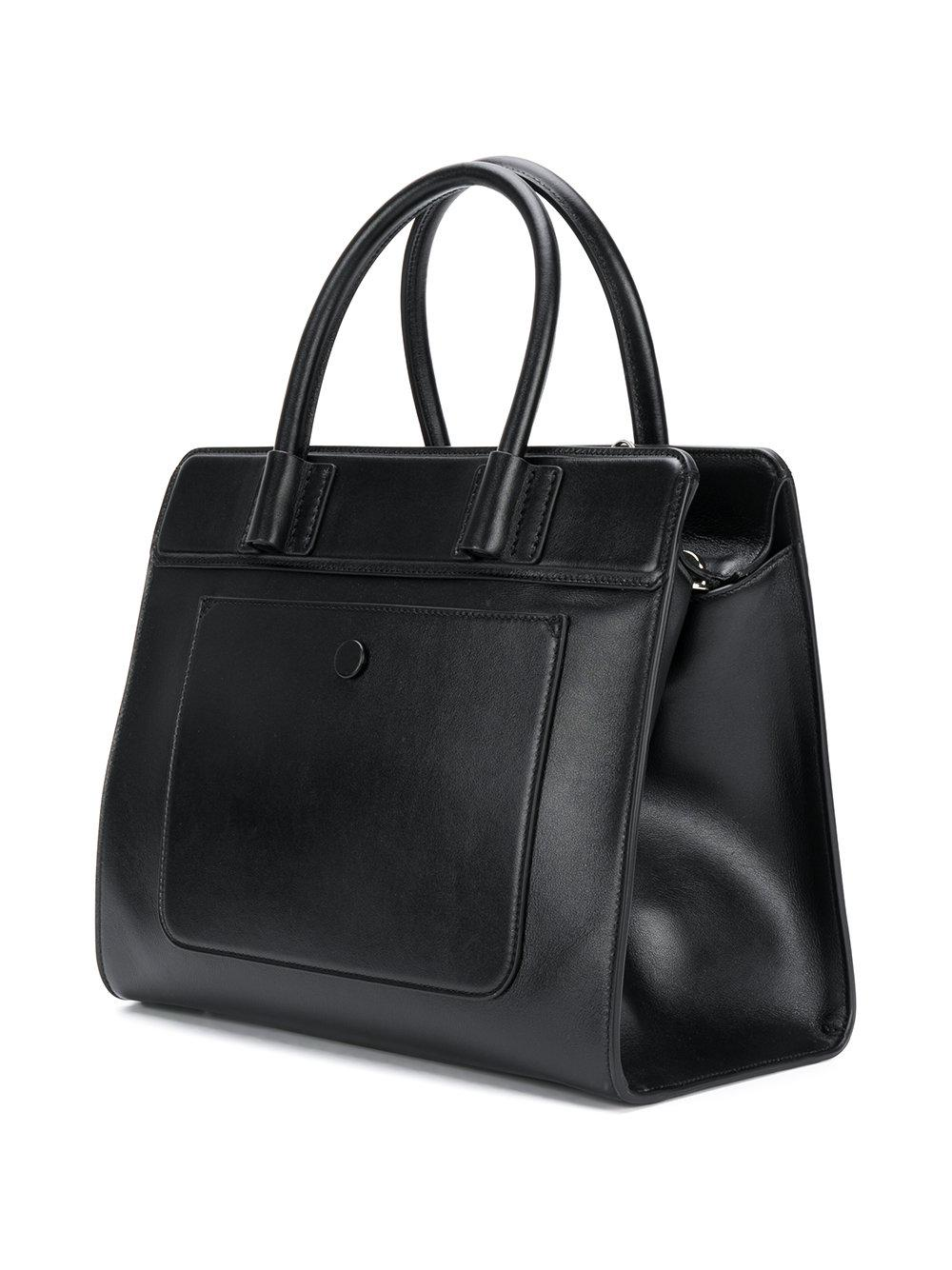 Tod's Suede Double T Tote Bag in Black