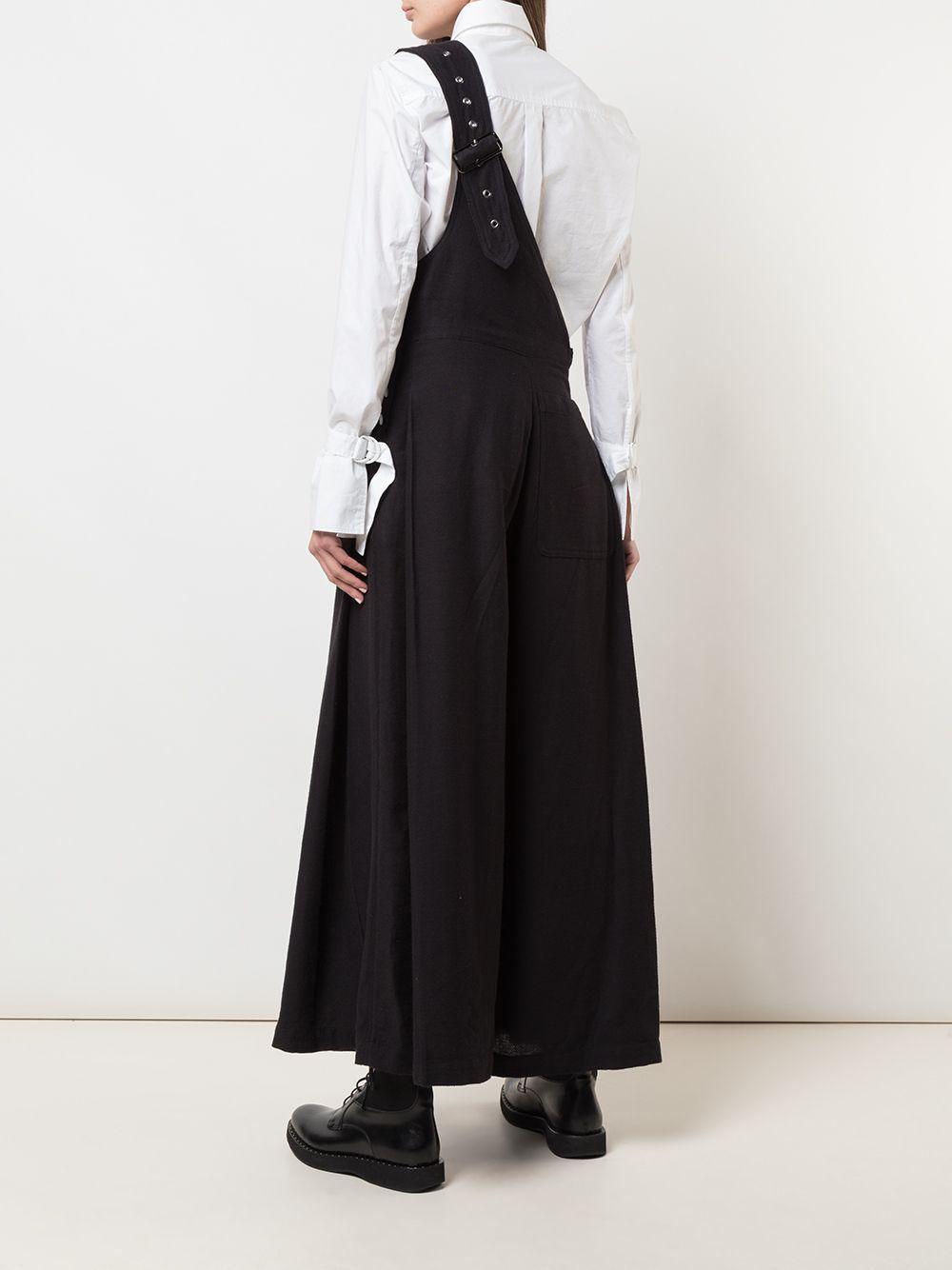 Peto ancho de un solo hombro Y's Yohji Yamamoto de Algodón de color Negro