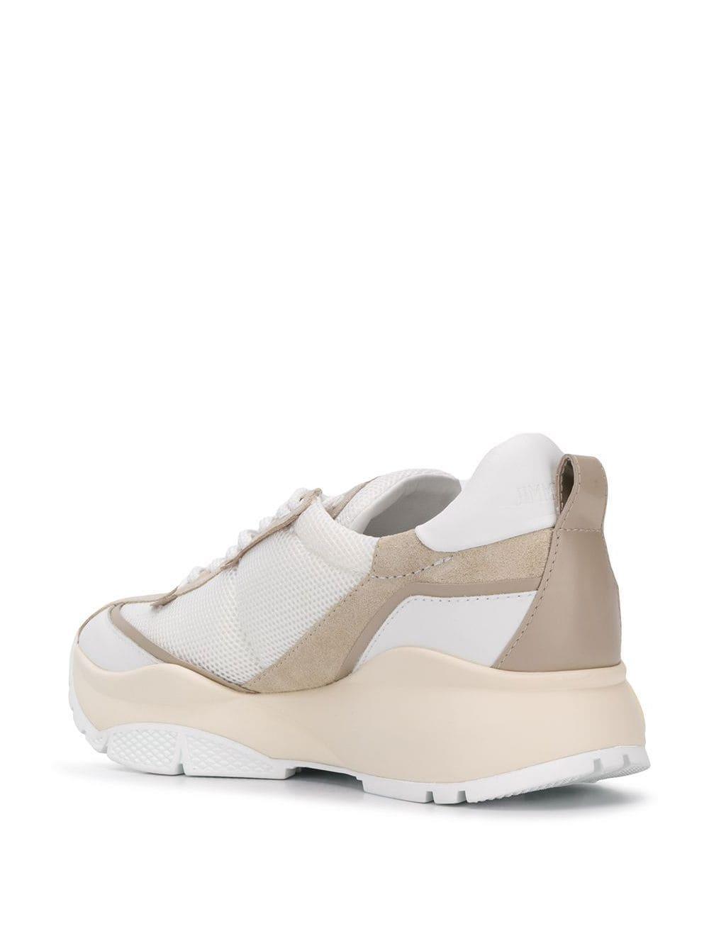 Zapatillas Raine Jimmy Choo de Cuero de color Blanco