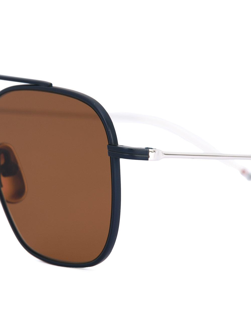 Thom Browne Tbs907 Sunglasses in Blue