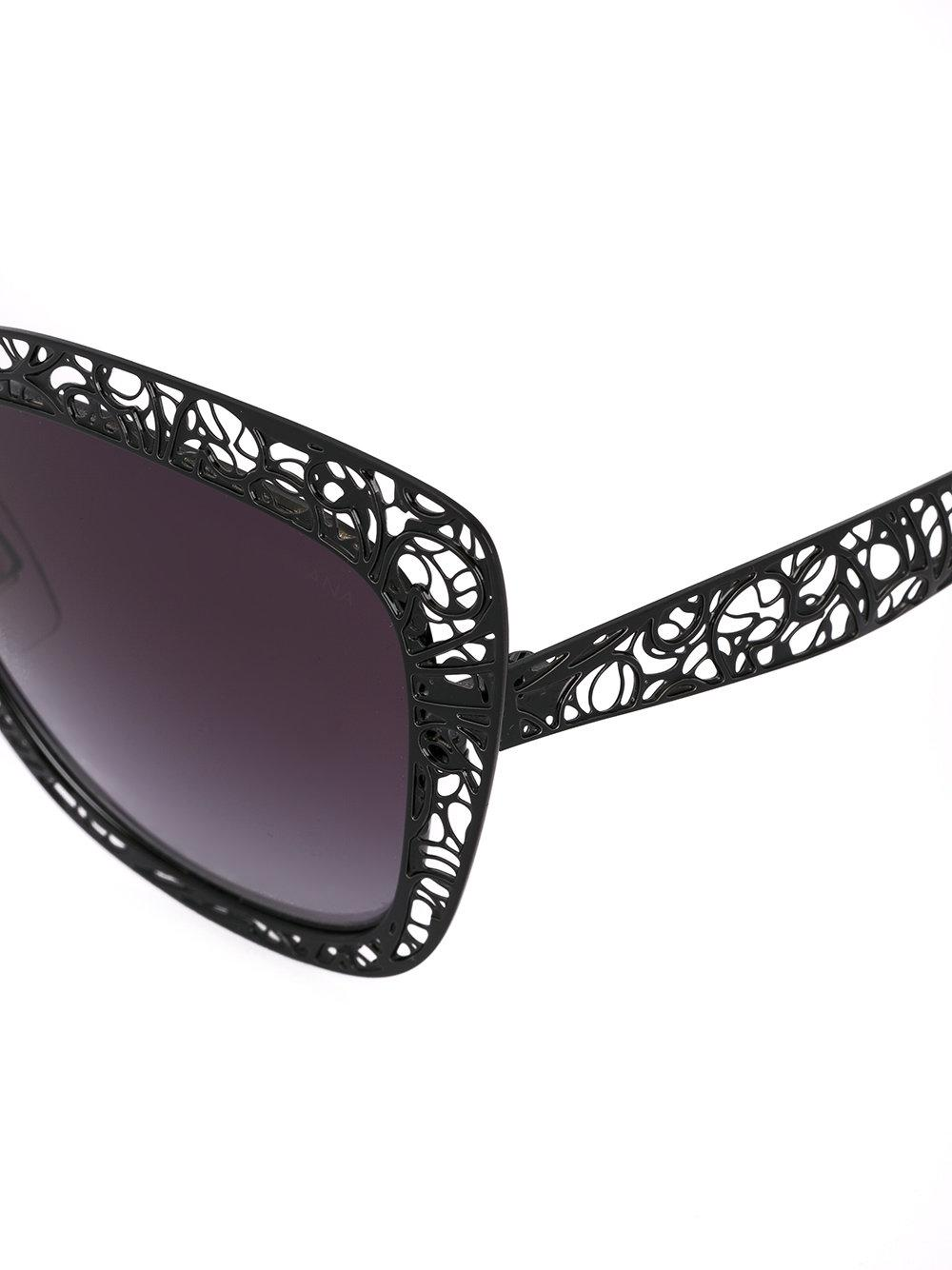 Dolce & Gabbana Lace Sunglasses in Black