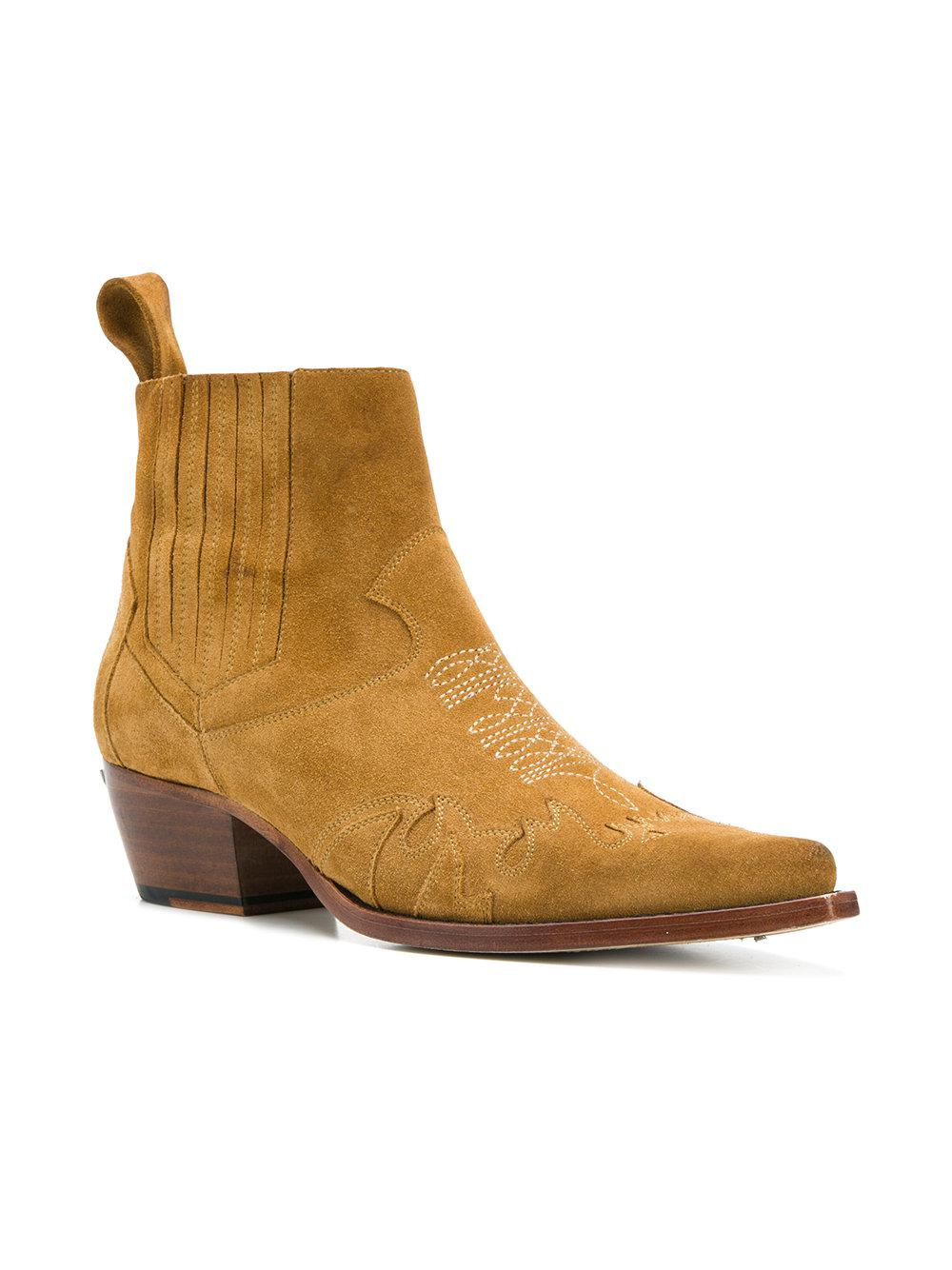 Zadig & Voltaire Leather Erin Cut Bootsa in Brown