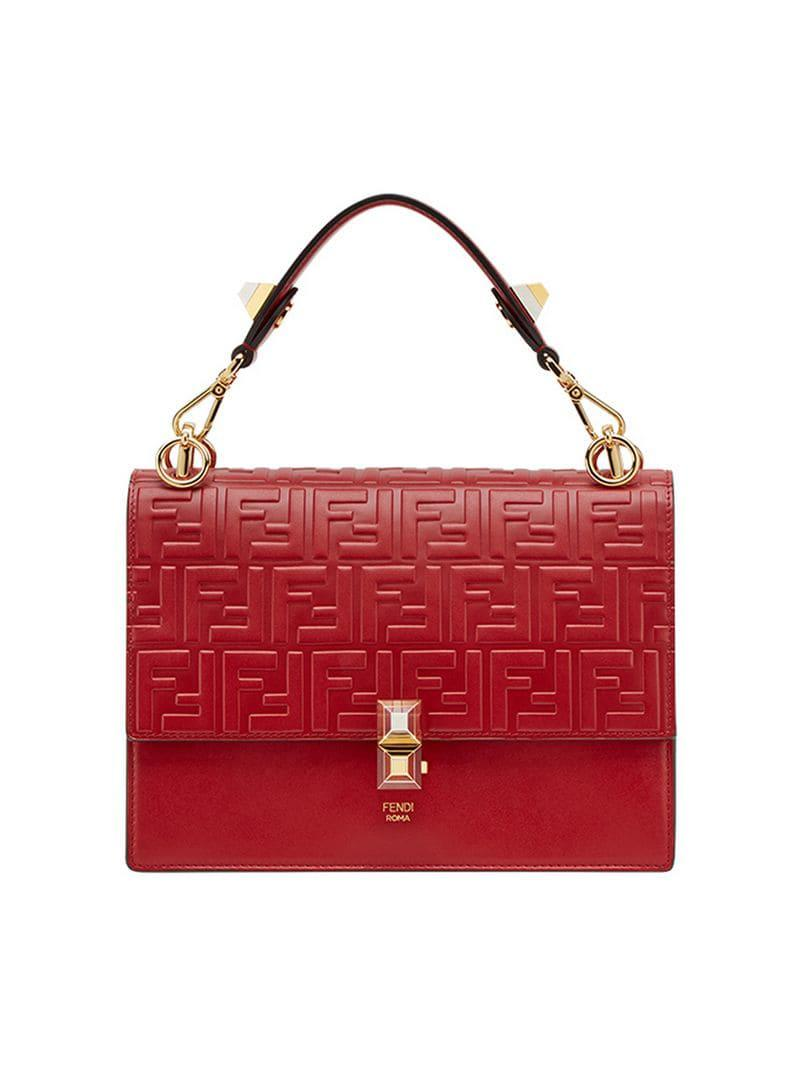aa9985274db4 Fendi Kan I Shoulder Bag in Red - Save 20% - Lyst