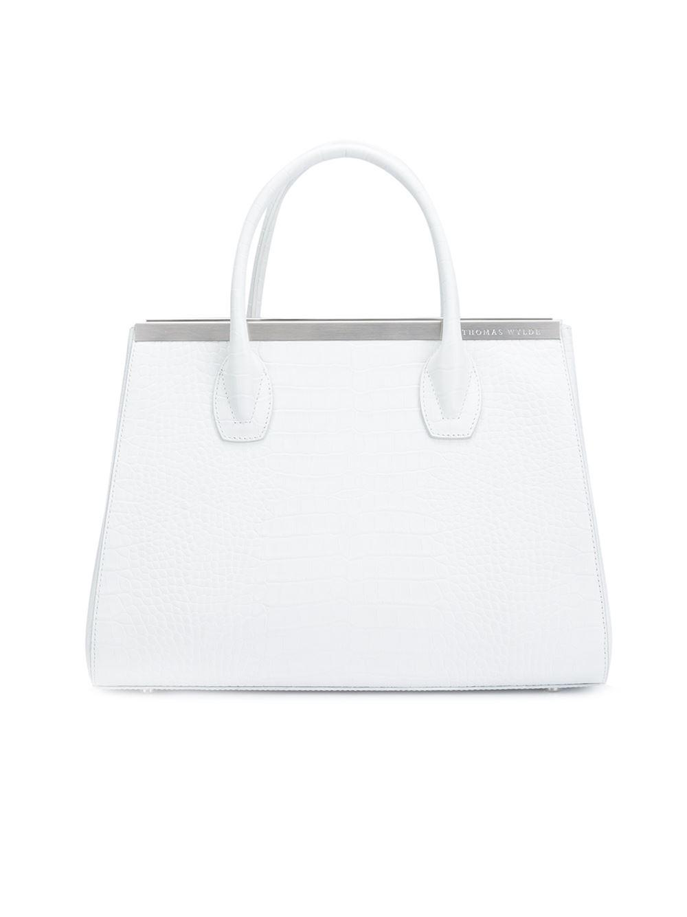 Thomas Wylde Leather Classic Tote in White