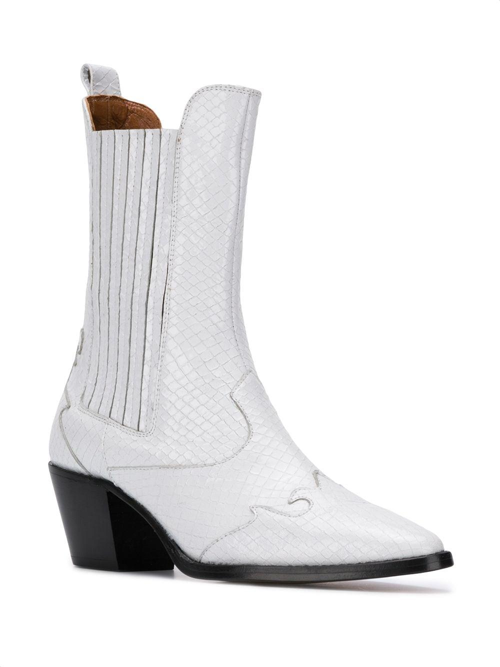 PX173S WHITE Calf Leather Paris Texas