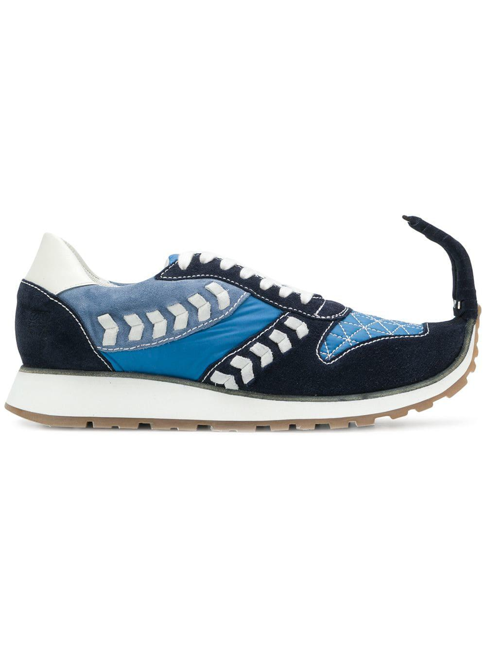 Loewe Leather Dinosaur Sneakers in Blue