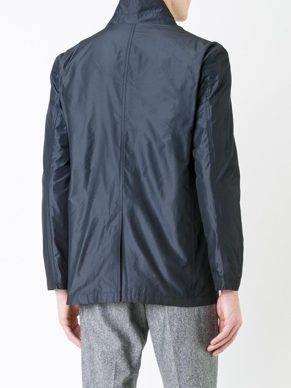Kent & Curwen Synthetic Lightweight Buttoned Jacket in Black for Men