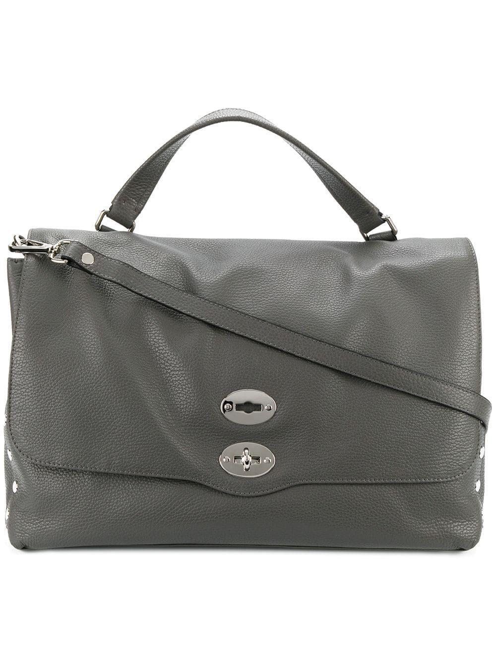 Zanellato Leather Daily Postina Tote in Grey (Grey)
