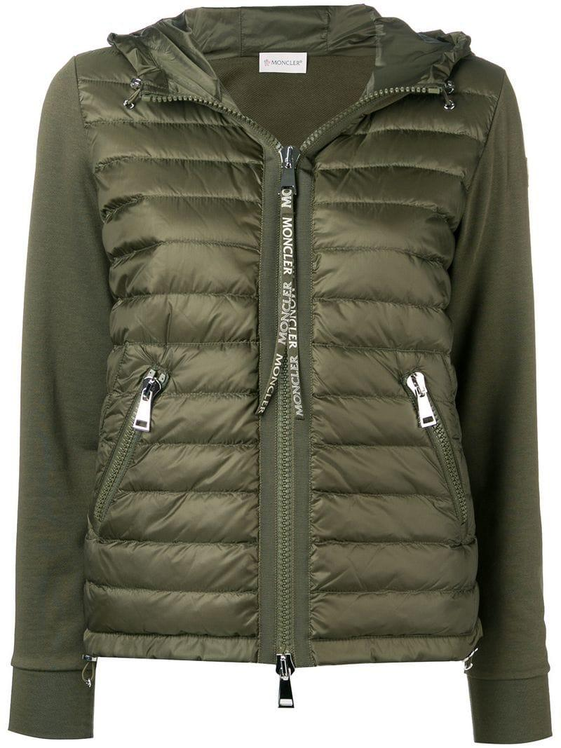 2b75c0e55e751 Moncler Padded Front Jacket in Green - Lyst
