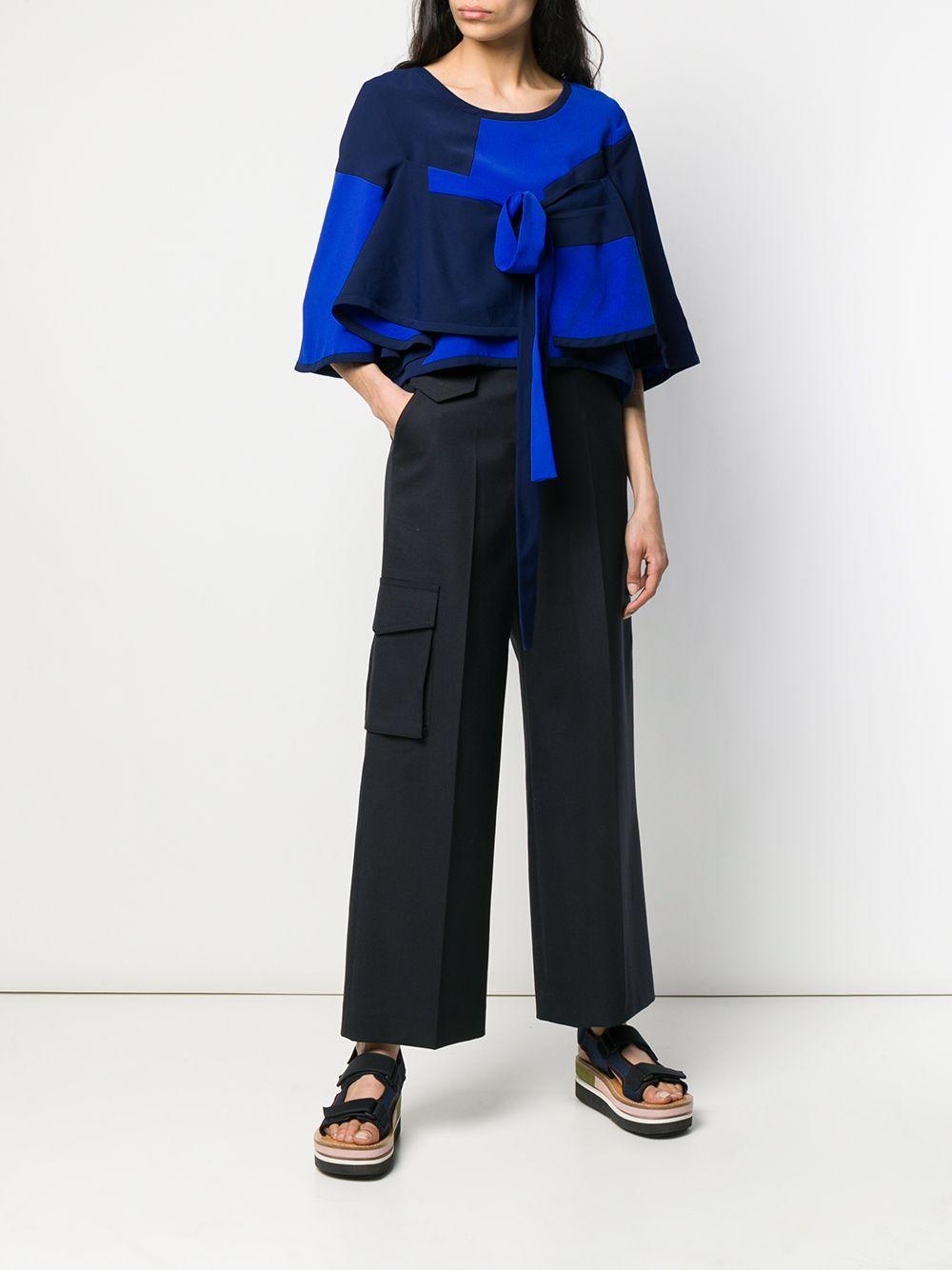 Blusa con diseño colour block Henrik Vibskov de Tejido sintético de color Azul