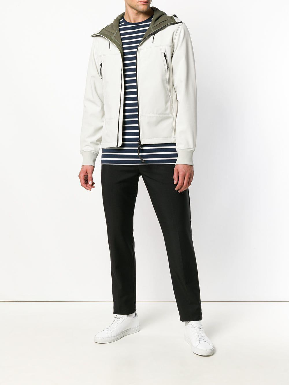 C P Company Cotton Hooded Jacket in White for Men