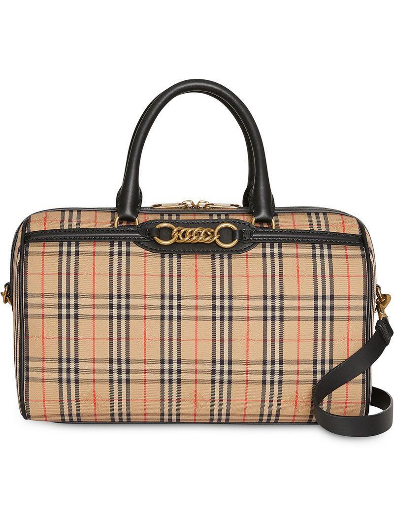 4ab351872a3a Burberry. Women s The Medium 1983 Check Link Bowling Bag