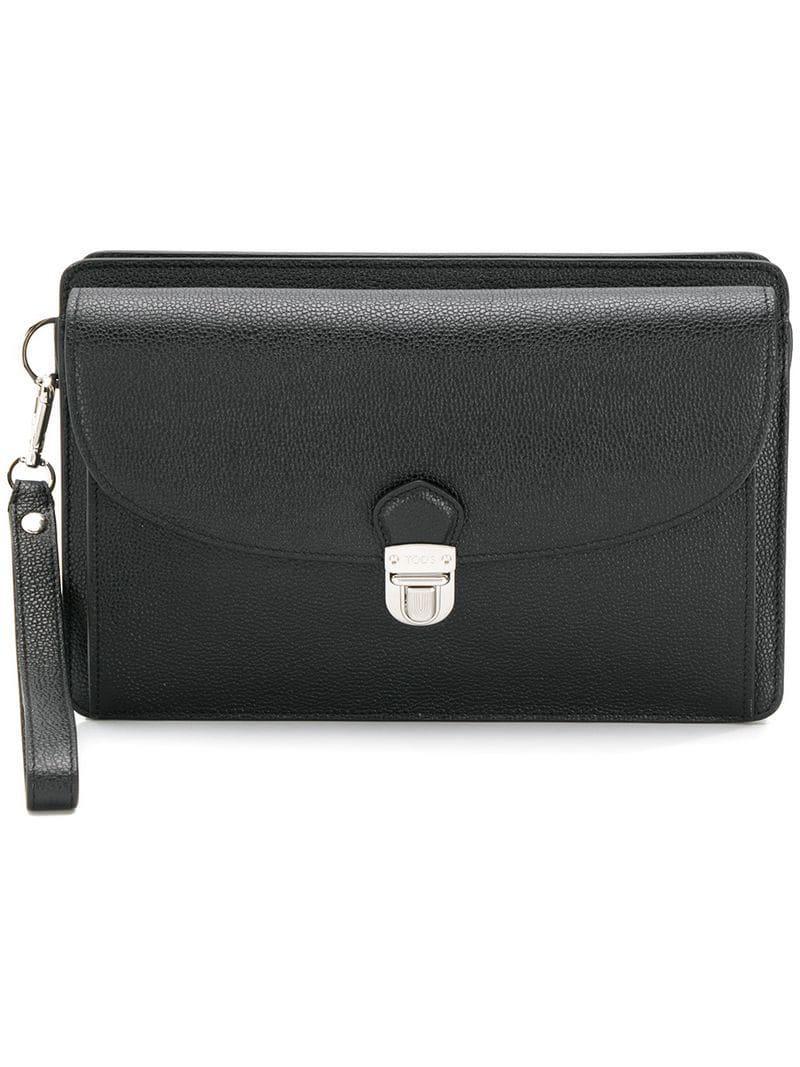 6b00102b3b158 Lyst - Tod S Double Pocket Clutch in Black for Men