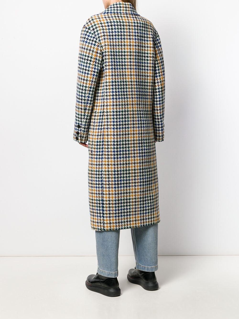 Manteau à motif pied-de-poule Laines McQ en coloris Blanc DCXnO