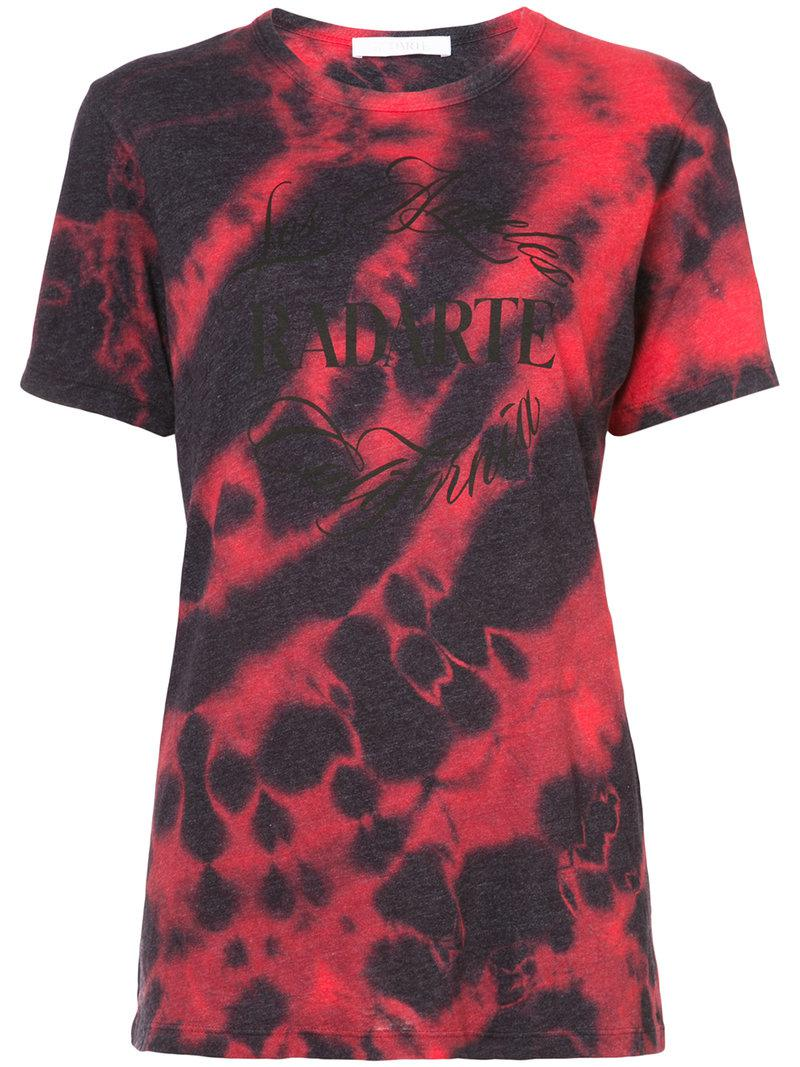 Lyst rodarte tie dye print t shirt in red for How to dye a shirt red